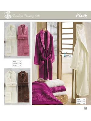 """Семейный набор халатов и полотенец Sikel """"Flowers KLASIK"""""""