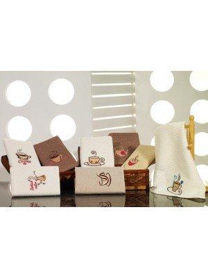 "Набор кухонных полотенец ""Calisto"" вафелька кофе 6-ka 40х60см :: Vianna"