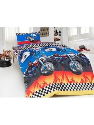 """Детское постельное бельё """"Motocross"""" First Choice бязь"""